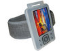 View Item WHITE Jogging Armband &amp; Skin Case Cover for Creative Zen 4gb 8gb 16gb &amp; 32gb + FREE SCREEN PROTECTOR